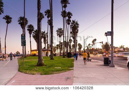 SANTA BARBARA, USA - CIRCA JULY 2014: Sunset at Santa Barbara in USA, California