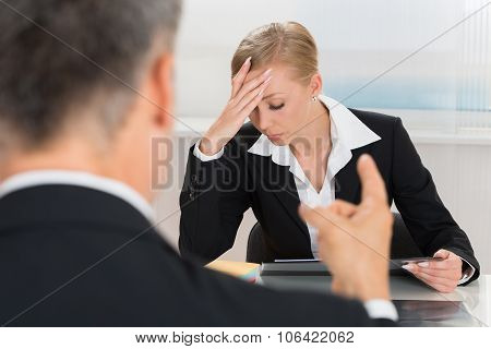 Businessperson Quarreling To Businesswoman