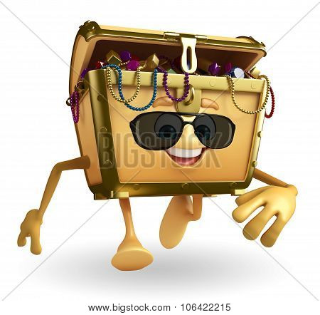 Treasure Box Character With Sun Glasses