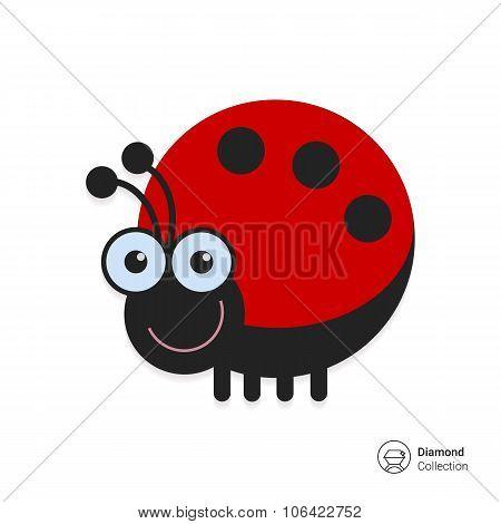 Cute ladybird icon