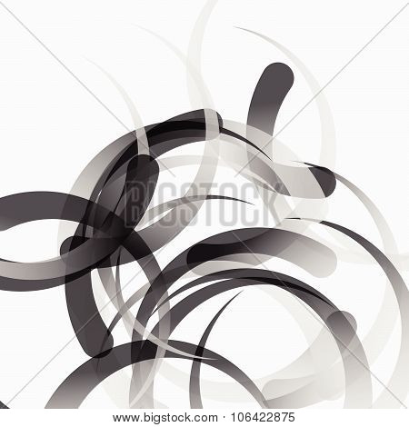 Grayscale, Monochrome Abstract Vector, Artistic Pattern. Editable.