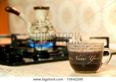 Coffee Preparation In A Turk