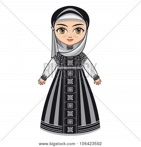 The doll in Muslim dress.