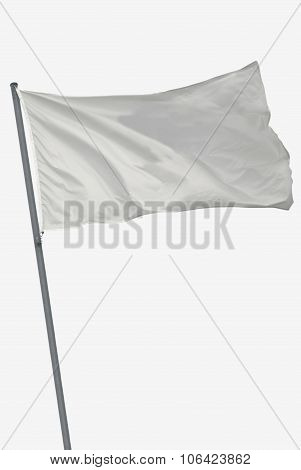 Isolated White Flag
