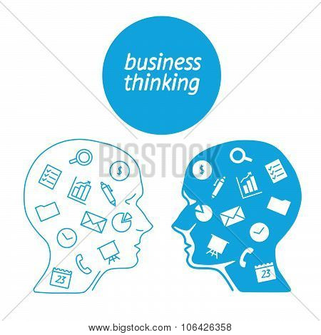Favorite of software business analyst in the form icons