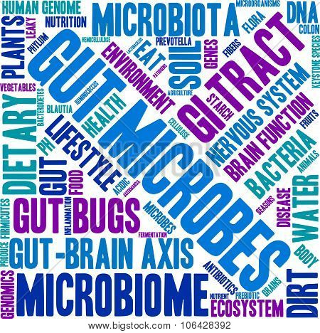 Gut Microbes Word Cloud