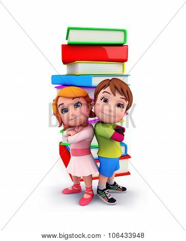Cute Kids With Books