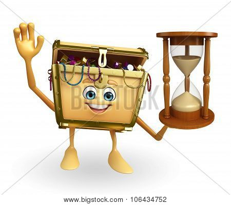 Treasure Box Character With Sand Clock
