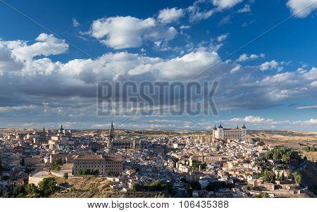 Panoramic View Of Toledo City In Spain