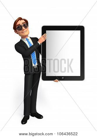 Young Business Man With Tab