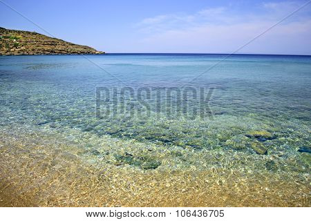 Batsi beach in Andros island Greece