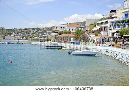 Batsi in Andros island Greece