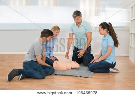 Instructor Showing Resuscitation Technique
