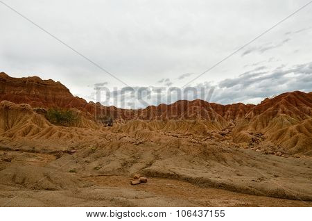 Colorful Sand Formations Of Tatacoa Desert