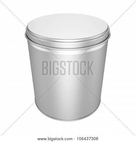 Tin Can With Metal Cap - Mock Up