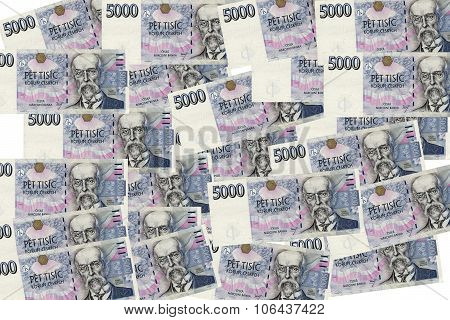 5000 Czech Korunas Banknotes