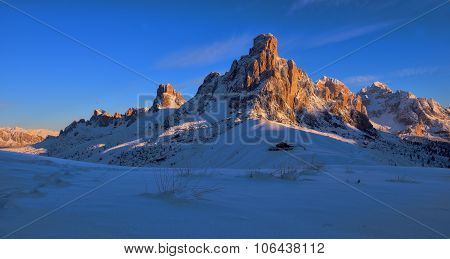 Mountain Cimma ra Gussella in morning sun