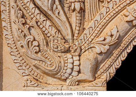 Beautiful stucco details, Bagan
