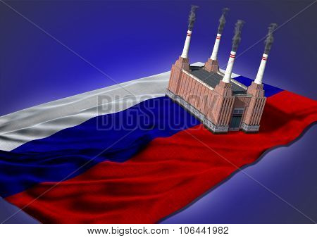 national heavy industry concept - Russian theme