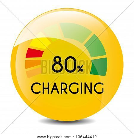 Low battery charging icon design