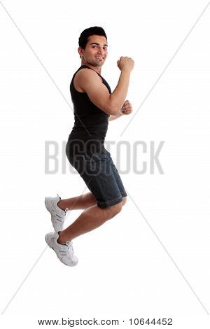 Jumping Man Fist Success