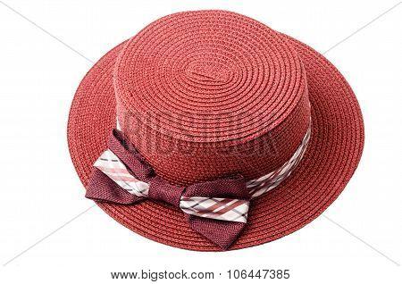 Pretty Straw Pink Hat.