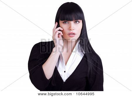Young Business Woman Making A Phone Call