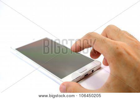 Handphone On White