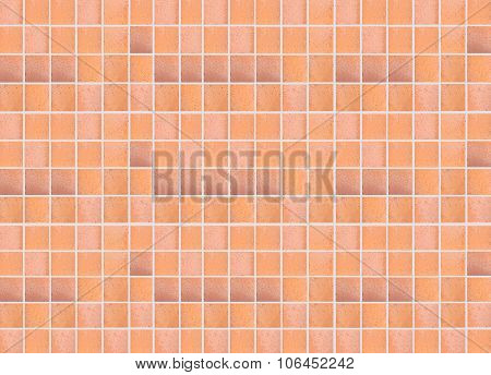 Brown earthenware floor tile seamless background and texture