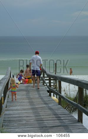 Family Heads To The Beach
