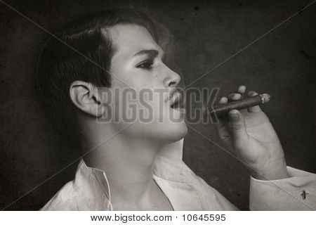 Man With Cigar