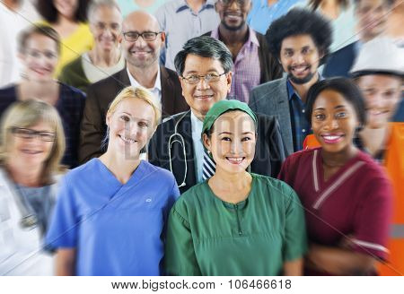 Group Diverse People Various Occupations Concept