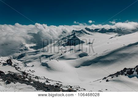 Mount Elbrus Area View.