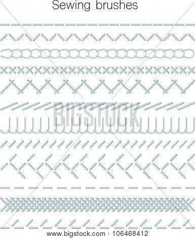 Set Of Swing Seams. Vector Illustration