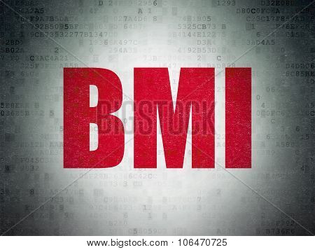 Healthcare concept: BMI on Digital Paper background