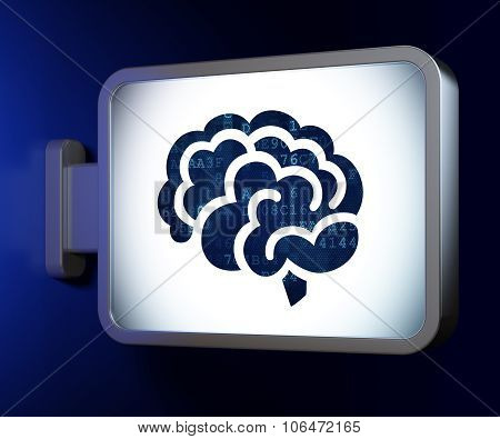 Healthcare concept: Brain on billboard background