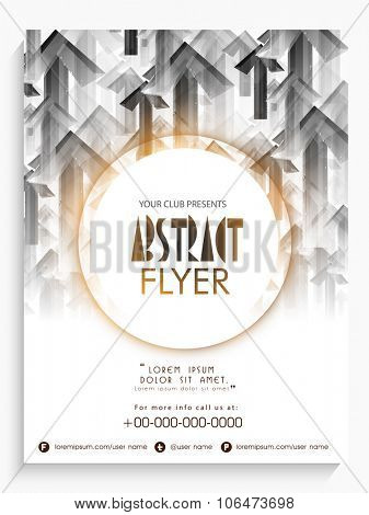 Creative abstract flyer, banner or pamphlet design for your Business.