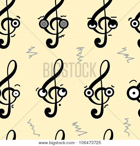 Seamless emotional treble clefs