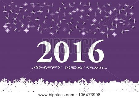 Happy New Year Vector In Purple Color