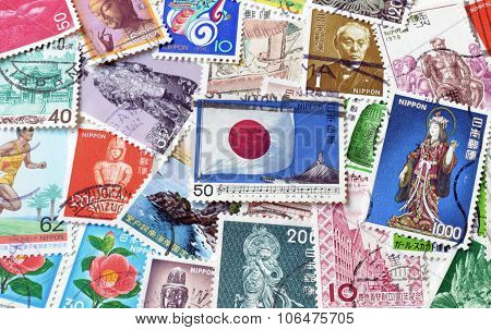 Japan on stamps