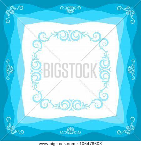 Frame In Blue Tones