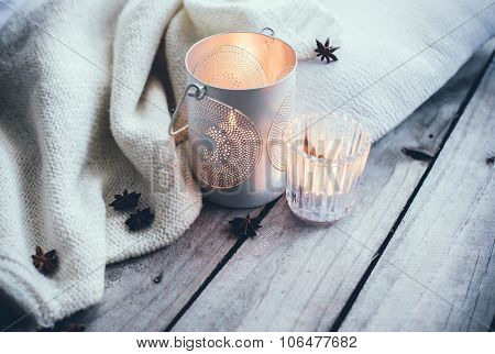 Cosy and soft winter background