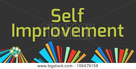 Self Improvement Dark Colorful Elements