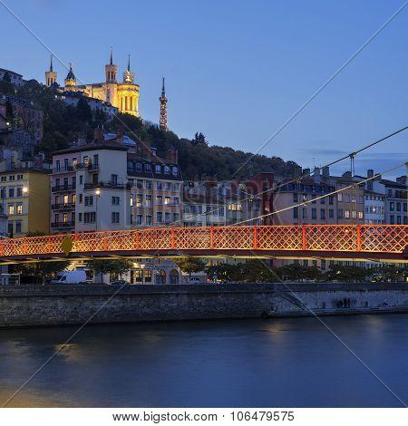 Lyon City With Saone River
