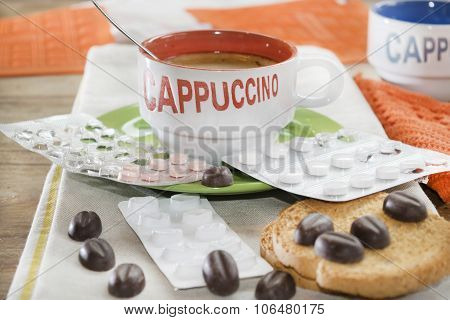 Cappuccino And Blister Pills