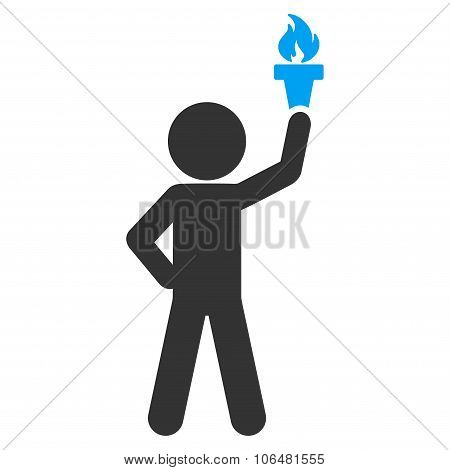 Child With Freedom Torch Icon