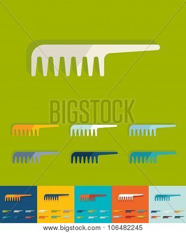Flat design. comb