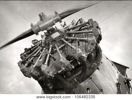 Old Airplane Engine