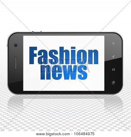 News concept: Smartphone with Fashion News on display