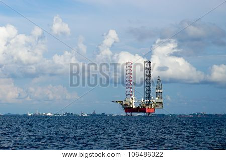 Oil and Rig industry in offshore at Labuan FT, Malaysia.
